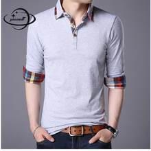 YAUAMDB tamanho M-5XL camisa dos homens polo 2017 primavera outono algodão  sólida masculino camisa de manga longa magro ocasiona. 4b21cf7959055