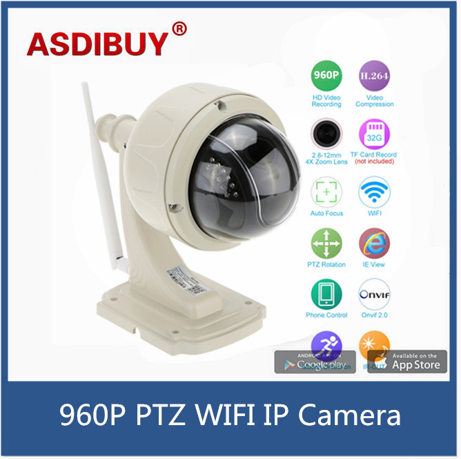 960P 1.3MP Waterproof Wireless WiFi IP Camera Outdoor PTZ dome Security Camera 2.8-12mm Auto-focus 4X zoom Home surveillance<br><br>Aliexpress