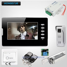 HOMSECUR 7inch Hands-free Video Intercom System With Strike Lock For House(China)