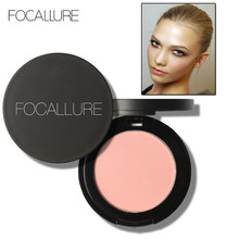 FOCALLURE Makeup Face Blush Powder Dual Use Face Color Blush Powder Cheek Color Brozer Comestics Blush Bronzer Hot Mama