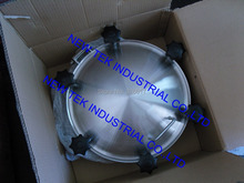 500mm Heavy duty Round Manway, 4bar Pressure, Stainless SS304 Tank Manhole in Food Grade