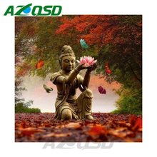 AZQSD DIY Diamond Embroidery Set Home Decor Buddhism Icon Handmade Painting Full Square Diamond Mosaic Painting bb4072