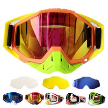 (1pc&10colors)Hot Promotion Brand 100% Original Motocross Goggles ATV Casque Motorcycle Glasses Racing Moto Bike Sunglasses YH05