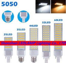 G24 LED Bulbs 5W 7W 9W 11W 13W E27 LED Corn Bulb Lamp Light SMD 5050 Spotlight 180 Degree AC85-265V Horizontal Plug Light
