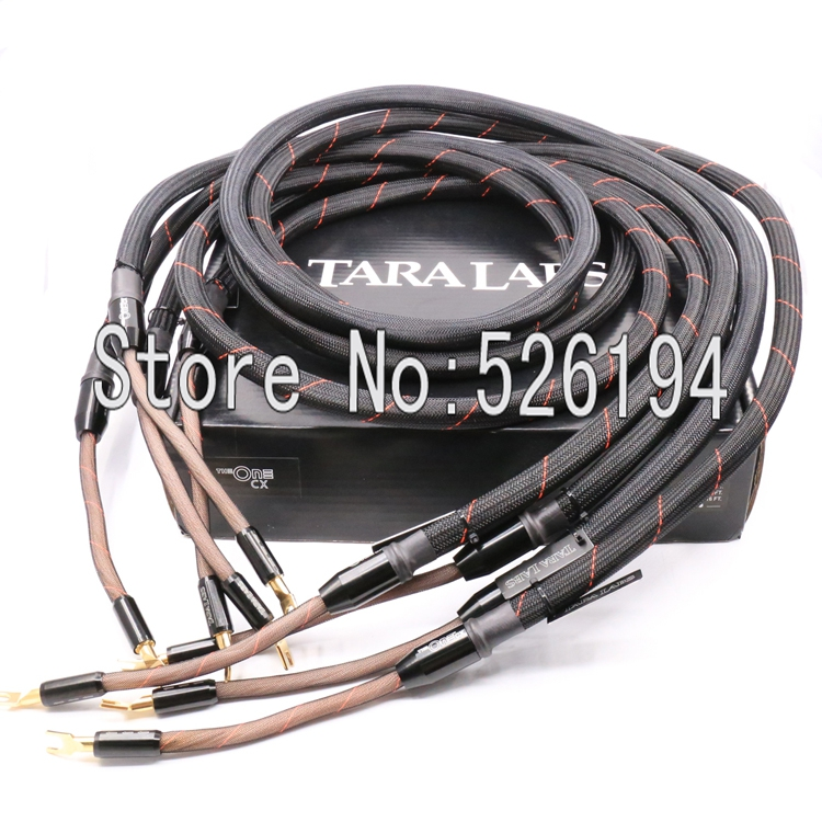 Free shipping 2.5M TARA LABS The One Loudspeaker Cable speaker cable with Spade Plug /banana plug(China (Mainland))