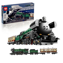 IN STOCK LEPIN 21005 1085Pcs Technic Series Emerald Night Train Model Building Kits Block Bricks Children Gigt Toys 10194