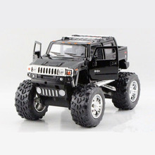 Kinsmart Scale 1:40 H2 SUT Car Toy, Die cast & ABS Off-road Vehicle For Collection, Pull Back Rubber Tire, Hot Toys, Brinquedos