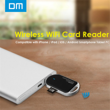 DM C1 WFD011 Wireless WiFi Card Reader Black Color USB2.0 Interface Support TF Card for Smartphones Mobile Devices Free Shipping