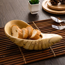 High quality Original natural roots Modern wooden plate fruit plate household dried fruit melon seeds candy tray shell plate(China)