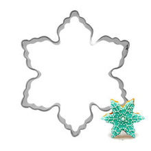 New 2015 Plaque Cutter Cookie mould Frame Cake Snowflake Stainless Steel Mold cake decorations tools