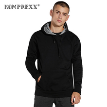 KomPrexx Mens Pullover Hooded Sweatshirts Active Sports Hoodie Jumpers Winter Warm Up Tops With Pocket 18.5oz MWY(China)