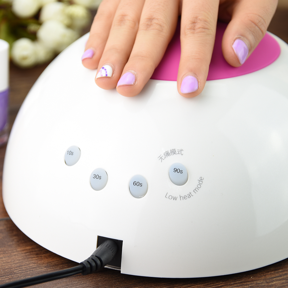 SUNUV SUN2 LED Lamps Nail 48W Nail Dryer Professional Nail UV Lamp Rose Silicon Pad For Nail Gel Polish with Sensor<br>