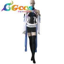 CGCOS Free Shipping Cosplay Costume Kingdom Hearts Birth By Sleep Aqua New in Stock Halloween Christmas Party Uniform