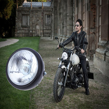 Motorcycle 35W 6-Inch Hi/Low Halogen Headlight W/Amber LED Turn Signal Lamp For CG125 GN125 CG200 Cafe Racer Bobber Custom(China)