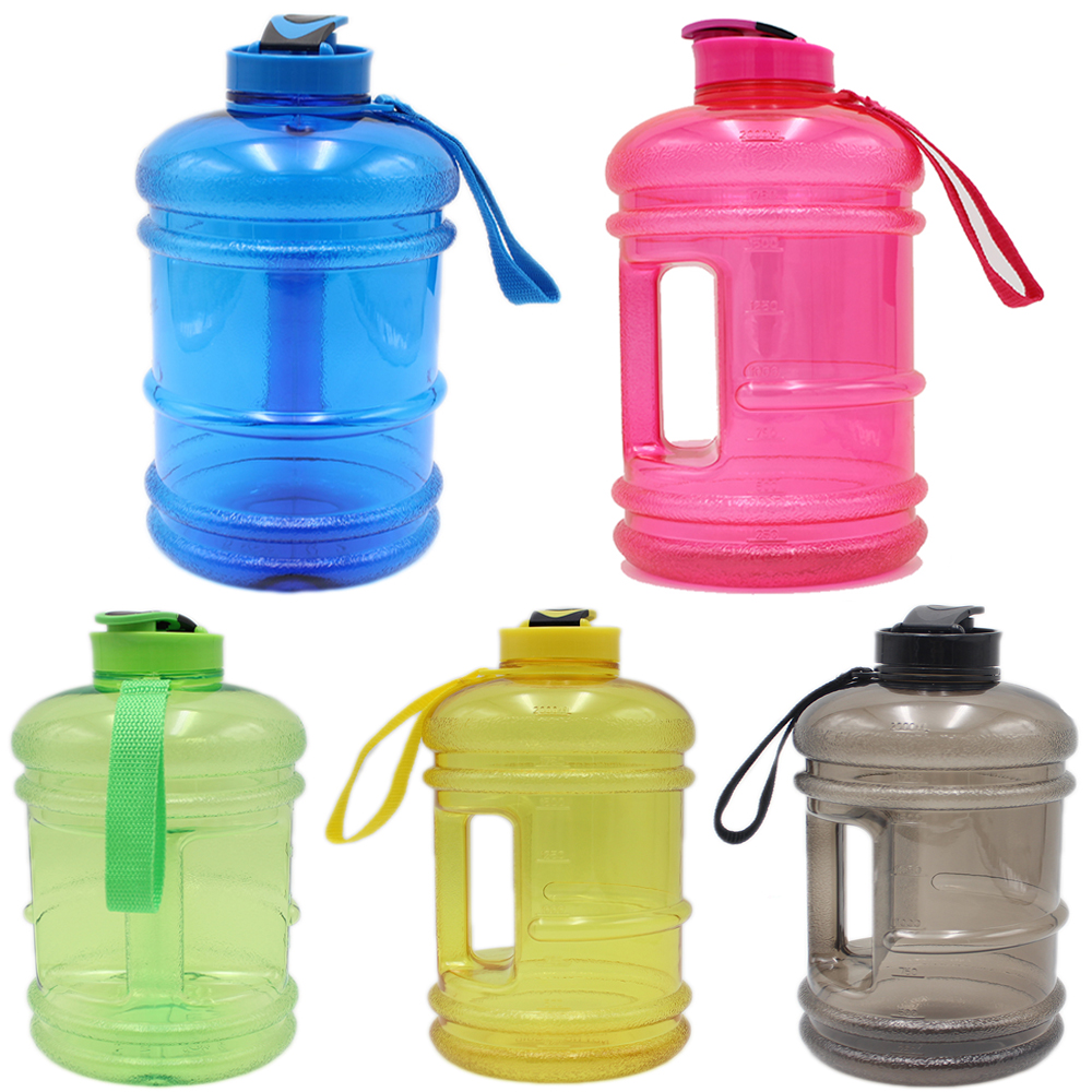 2.2 L Large Sports Drink Water Bottle Free BPA Gym Workout Training Fitness E