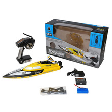 WLToys WL912 2.4G Remote Controlled 180 Degree Flip High Speed Electric RC Racing Boat for Pools, Lakes and Outdoor Adventure(China)