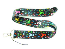 Wholesale 10 Pcs popular loving heart Neck Straps Lanyards Mobile Phone,ID Card,Key Condole belt Mixed L046
