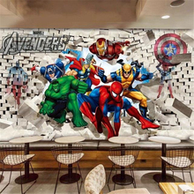 Latest 3D Cartoon Wallpaper Restaurant Clubs KTV Bar Children's Room Internet Cafe Fashion Wallpaper Decor Mural Papel De Parede