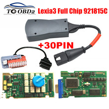 Top Selling Lexia 3 Full Chip Diagbox 7.76 Gold Edge 921518C 12Relay 7Optocouplers Full Function For Citroen/Peugeot Code Reader