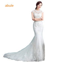 Buy abule lace Robe de Mariage Vintage Mermaid Wedding Dress 2017 Lace Bridal Gown Sleeves Vestido de Noiva White Wedding Dresses for $106.80 in AliExpress store