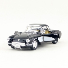 Free Shipping/KiNSMART Toy/Diecast Model/1:34 Scale/1957 Chevrolet Corvette Classical/Pull Back Car/Collection/Gift For Children