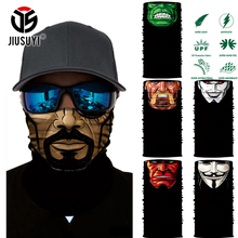 3D Seamless Multifunctional Magic Headband Cartoon Face Men Tube Skull Head Scarf Warm Neck Face Mask Bandana Headwear Halloween