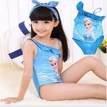 New Hello Kitty Girl's Swimsuit For Children Swimwear One Piece Swimming Suit Kids Brand Clothes Summer Beach Wear  qo403