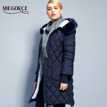 2017Miegofce New Collection Winter Womens Jacket Coat Original Fur Collar Women Parkas Fashion Brand Womens Cotton Padded Jacket(China)