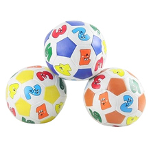 10cm PU Soft ball Baby ball Soccer Ball Sponge Handball Children Kids Educational Toy Baby Learning Colors Number Rubber BB Ball