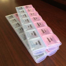 7 Days Weekly Tablet Pill Medicine Box Holder Storage Organizer Container Case 14Slots Pill Box