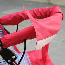 2017 New Hot Accessories Baby Stroller Large Rotary Gloves Velcroed Oxford Fabric Unpick And Washable For Stroller Armrest Set(China)
