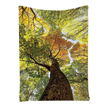Landscape Nature Art Decor Collection, Glamorous Tree of Life with Falling Leaves in Autumn, Wall Hanging Tapestry,100*150cm(China)