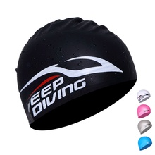 100% Silicone Swimming Accessories Cap Women Men Kids Long Hair Silica Hood Ultrathin Hat Protect Ears Waterproof Outdoor(China)