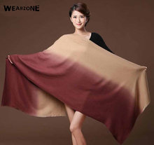 Luxury Brand Scarf Unisex 2017 Female Male Gradient Cashmere Scarf Pashmina 180*70cm Women Men Wrap Warm(China)