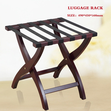 49*45*50cm Solid wood Hotel Luggage Racks Folding Luggage chair(China)