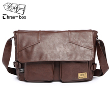 Three-box PU Leather Bag Retro Men Shoulder Crossbody Bags Briefcases Laptop Business Men's Travel Tote Messenger - ProtectorPlus Tactical Gear Store store