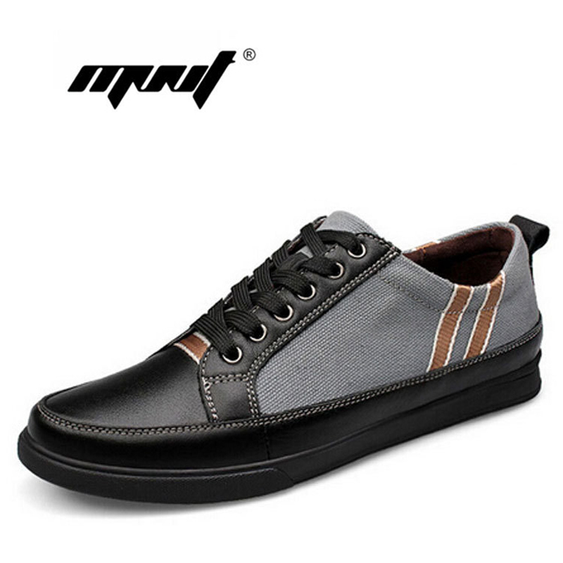Plus size 100% comfortable flats shoes leather with canvas lace up outdoor shoes soft leather flat shoes zapatos hombre<br><br>Aliexpress