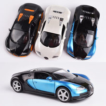 Big alloy car,1:24 scale Bugatti Veyron,pull back car models,2 open door,Special toys,free shipping