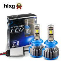 hlxg Car Headlamps  H8 H11 9005 H4 H7 LED Headlights 35W 7000LM 12V Car COB Chips Light Source 6000K