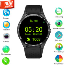 New ! 3G Smart watch Android 5.1 OS 400*400 MTK6580 quad core CPU Support 3G WiFi Nano SIM Card GPS Smartwatch with 2.0MP camera
