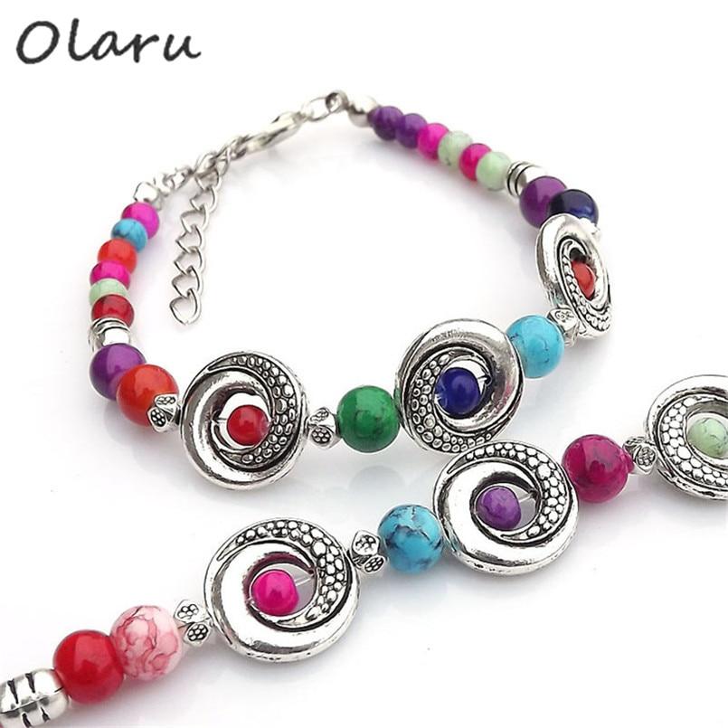 Fashion jewelry Tibet Tibetan silver ladies Lucky beads bracelet bangle 1pc