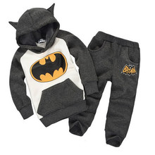 batman set baby boys clothing set children hoodies pants thicken winter warm clothes boys girls sets 2017 autumn new arrival(China)