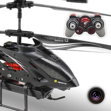 HOT!   WL S977 RC Drone 3.5 CH Radio remote Control Metal Gyro rc Helicopter With HD Camera RC Helicopter Girft kid