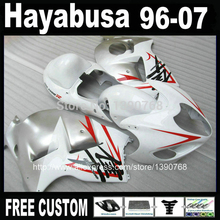 MOTOMARTS  - High Quality ABS fairing kit for SUZUKI Hayabusa GSX1300R 1996-2007 red silver white fairings  GSX 1300R 96-07 FF5
