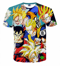 Newest Style Dragon Ball Z Goku 3D t shirt Funny Anime Super Saiyan t shirts Children's tee shirts Casual t-shirt big kids tops