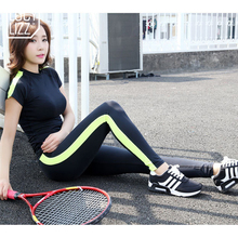 2016 Women Splice Yoga Set Sport Suit For Gym Running Set Sportswear Fitness Tracksuit 2 Piece Bra Pants Fitness Sports Clothing