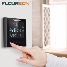 Floureon Floor Heating Thermostat Touch Screen Heating LCD Thermostat 6 Period Programmable Controlling Temperature Heating Tool