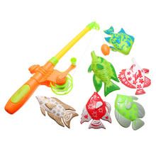 Hot Sale Magnetic Fishing Toy With 6 fish And a Fishing Rods Outdoor Fun & Sports Fish Toy Gift for Baby/Kids