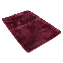 SZS Hot Fluffy Anti-skid Shaggy Area Rug Yoga Carpet Home Bedroom Floor Dining Room Mat claret red