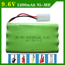 9.6 V 2400mAh Remote Control Toys Electric toy security facilities electric toy AA battery battery group SM/T/JST Plug(China)